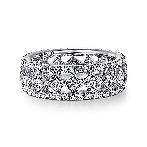 14k White Gold Diamond Eternity