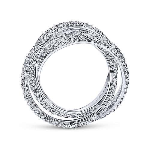 14k White Gold Diamond Eternity Anniversary Band angle 2