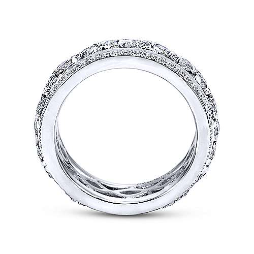 14k White Gold Diamond Eternity Anniversary Band angle 2