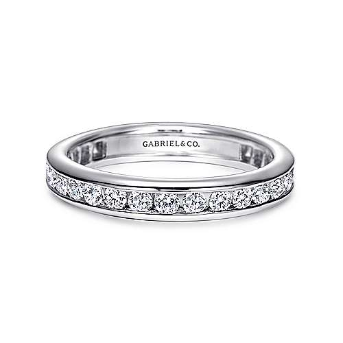 14k White Gold Contemporary Eternity Band