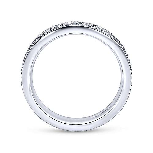 14k White Gold Diamond Eternity Band Anniversary Band angle 2