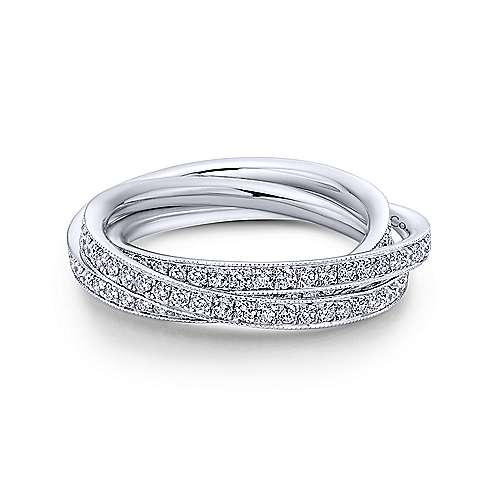 14k White Gold Victorian Eternity Band