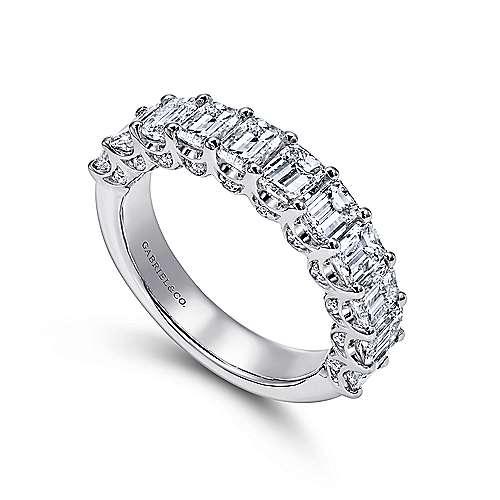 14k White Gold Diamond Fancy Anniversary Band angle 3