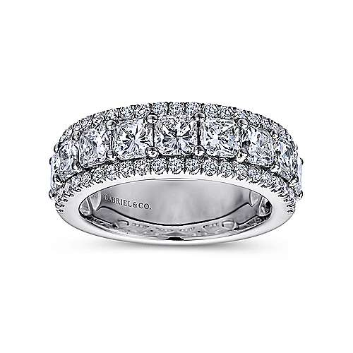 14k White Gold Diamond Fancy Anniversary Band angle 4