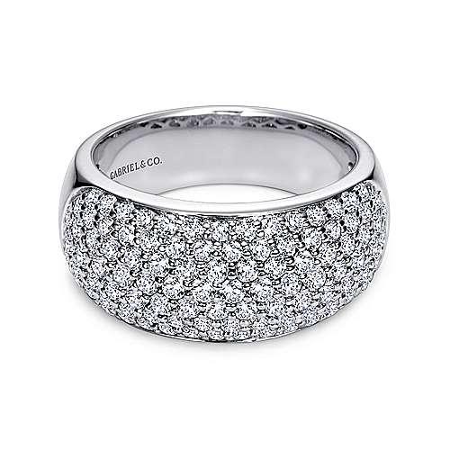 14k White Gold Diamond Fancy