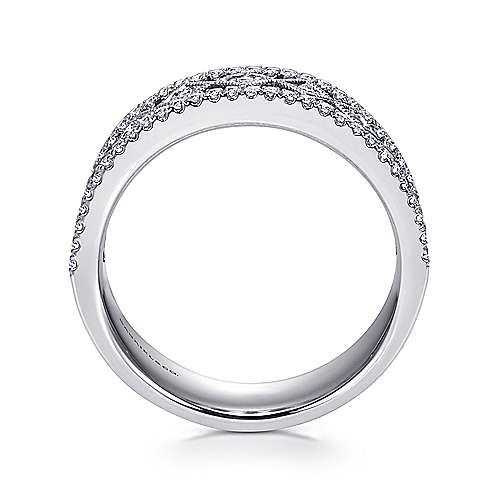 14k White Gold Diamond Fancy Anniversary Band angle 2