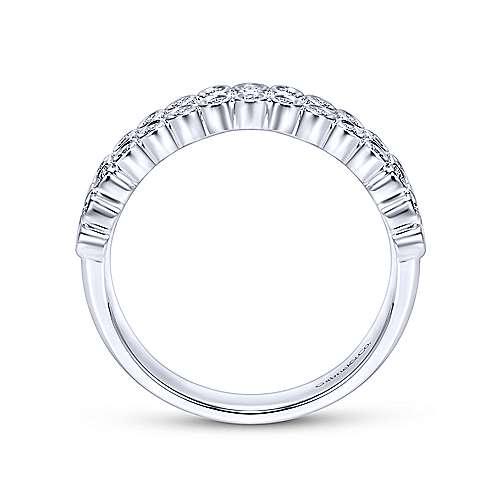 14k White Gold Diamond Fancy Anniversary Band angle 2