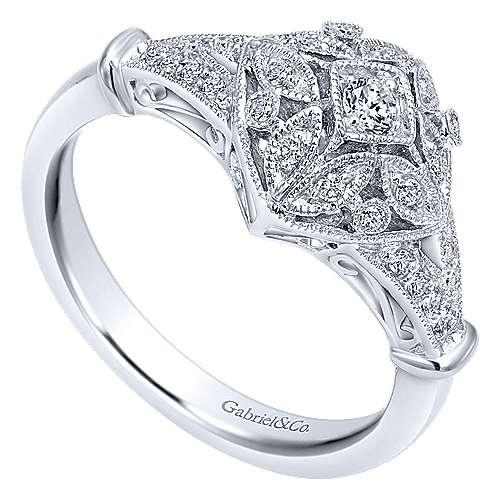 14k White Gold Diamond Fashion Ladies