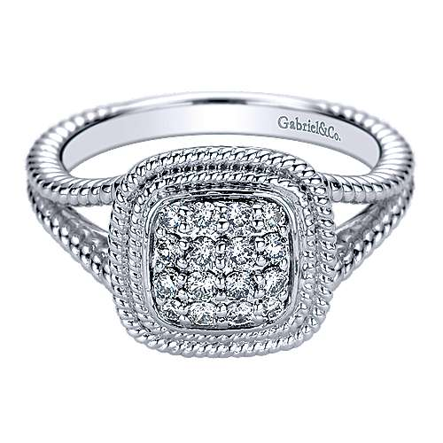 Gabriel - 14k White Gold Hampton Fashion Ladies' Ring