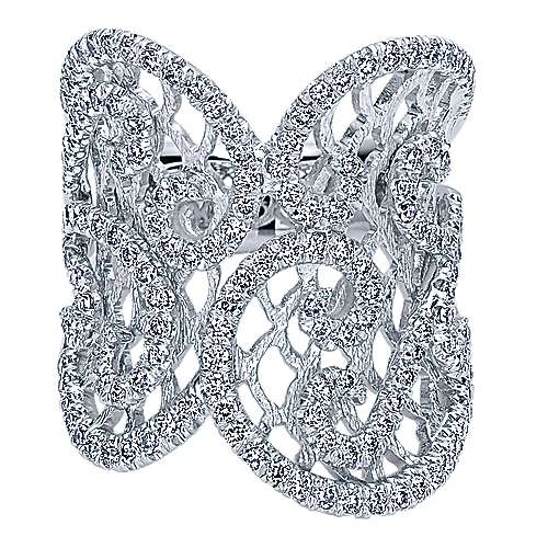 Gabriel - 14k White Gold Allure Fashion Ladies' Ring