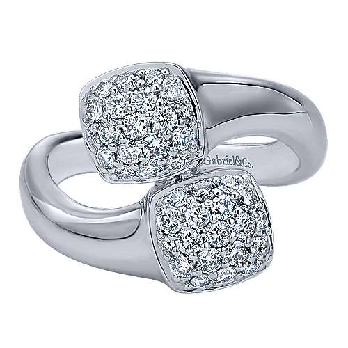Gabriel - 14k White Gold Silk Fashion Ladies' Ring