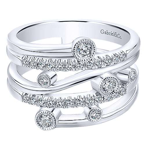 14k White Gold Diamond Fashion Ladies