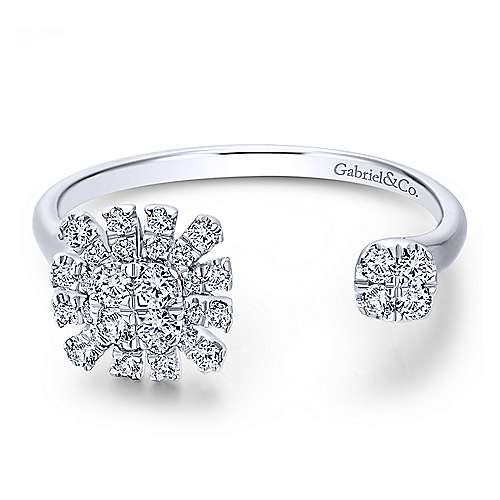 Gabriel - 14k White Gold Stellare Fashion Ladies' Ring