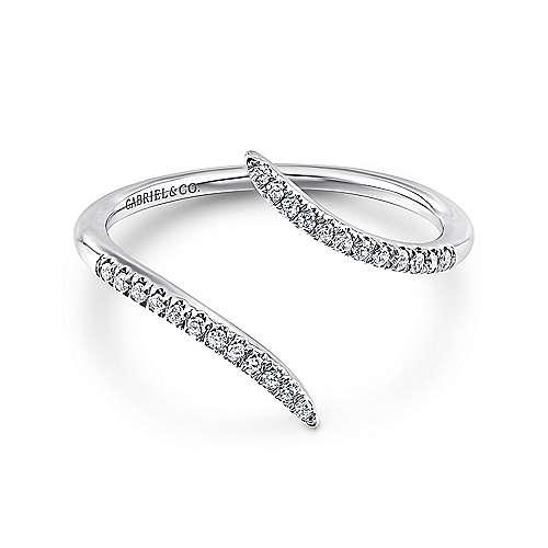 Gabriel - 14k White Gold Trends Fashion Ladies' Ring