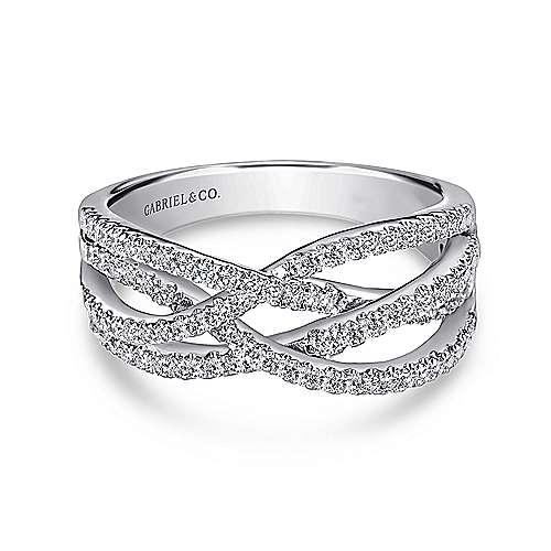 14k White Gold Lusso Diamond Fashion