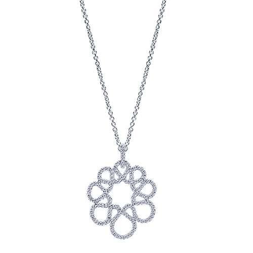 Gabriel - 14k White Gold Lusso Diamond Fashion Necklace
