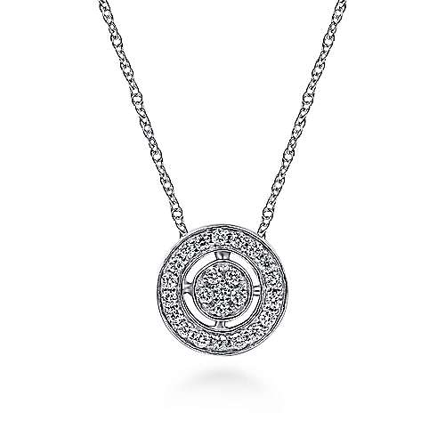 Gabriel - 14k White Gold Victorian Fashion Necklace