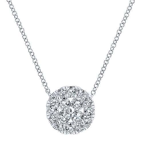 14k White Gold Clustered Diamonds Fashion