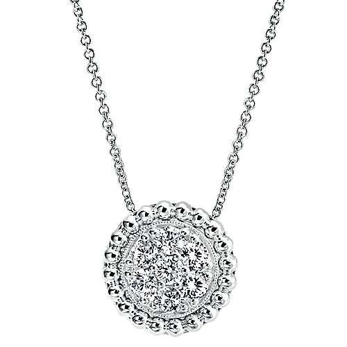 Gabriel - 14k White Gold Bombay Fashion Necklace