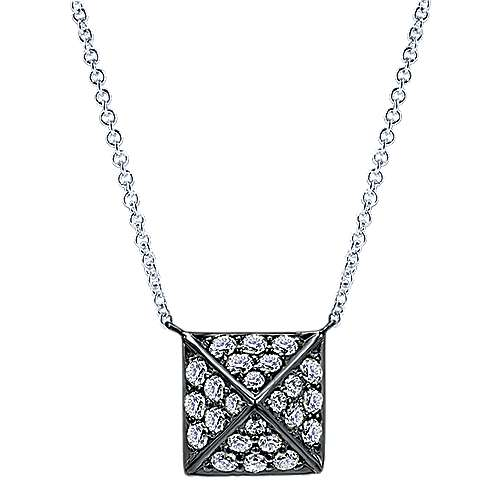 Gabriel - 14k White Gold Fierce Fashion Necklace