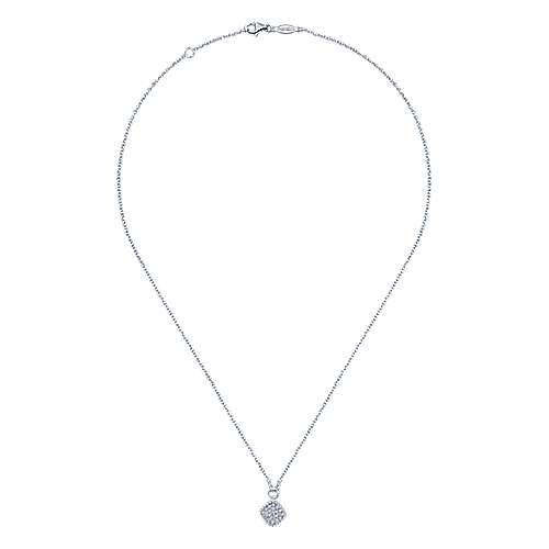 14k White Gold Diamond Fashion Necklace angle 2