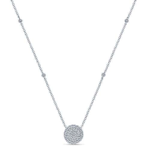 Gabriel - 14k White Gold Silk Fashion Necklace