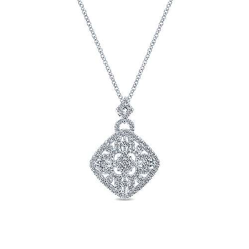 Gabriel - 14k White Gold Lusso Diamond Fashion Necklace