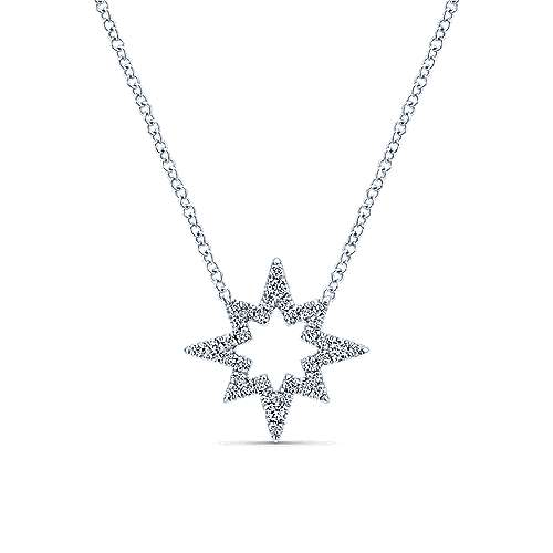 14k White Gold Diamond Fashion Necklace angle 1