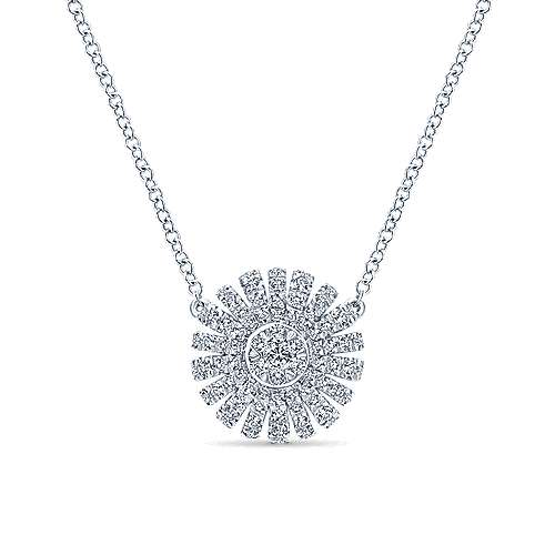 Gabriel - 14k White Gold Stellare Fashion Necklace