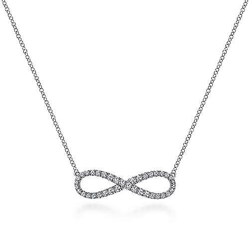 Gabriel - 14k White Gold Eternal Love Fashion Necklace