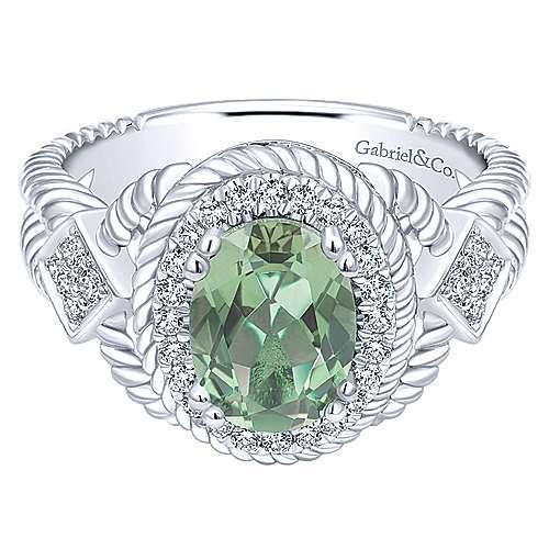 Gabriel - 14k White Gold Hampton Fashion Ladies' Ring