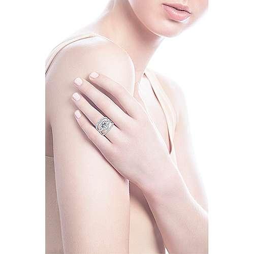 14k White Gold Diamond Halo Engagement Ring angle 7