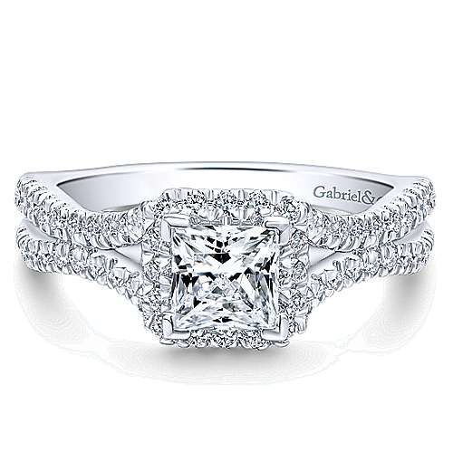 14k White Gold Entwined