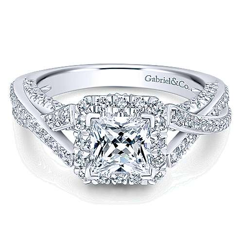 Gabriel - 14k White Gold Infinity Engagement Ring