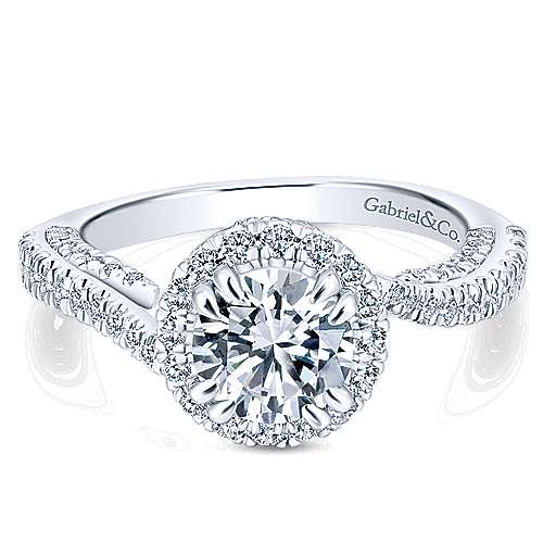 Gabriel - 14k White Gold Infinity Engagement Ring