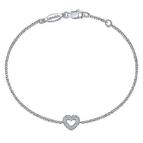 Gabriel - 14k White Gold Eternal Love Heart Bracelet