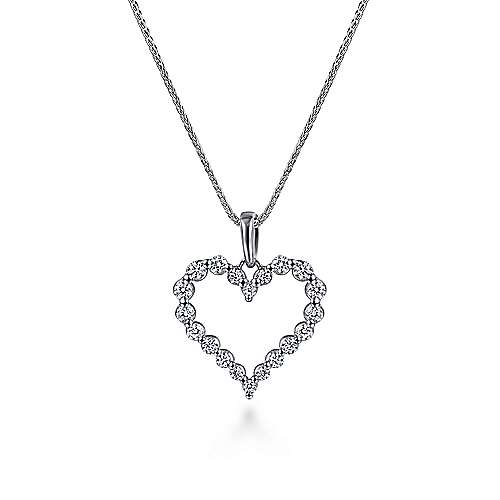 14k White Gold Eternal Love Heart