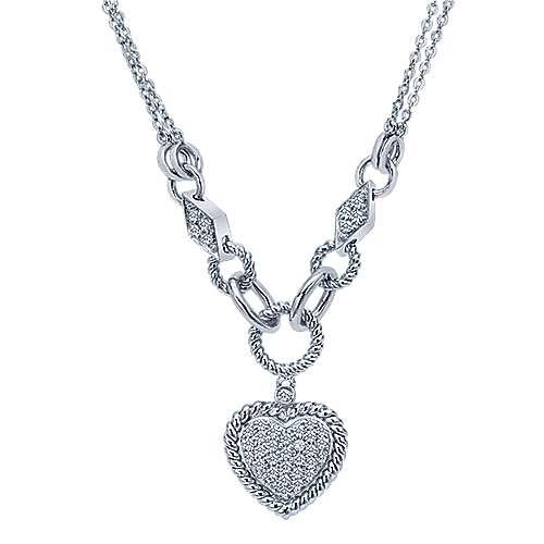 14k White Gold Eternal Love Heart