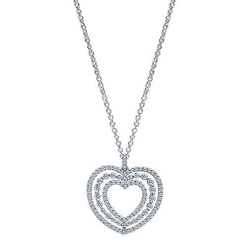 Gabriel - 14k White Gold Eternal Love Heart Necklace
