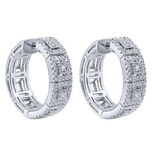 Gabriel - 14k White Gold Huggies Huggie Earrings