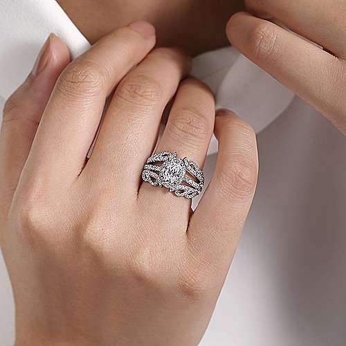 14k White Gold Diamond Jacket Anniversary Band angle 5