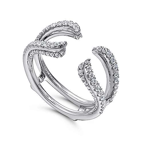 14k White Gold Diamond Jacket Anniversary Band angle 3