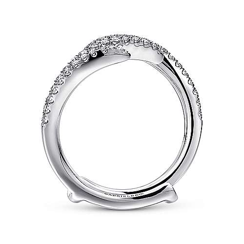 14k White Gold Diamond Jacket Anniversary Band angle 2
