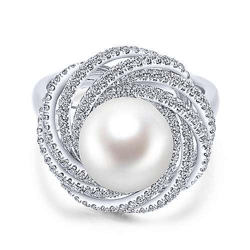 Gabriel - 14k White Gold Grace Fashion Ladies' Ring