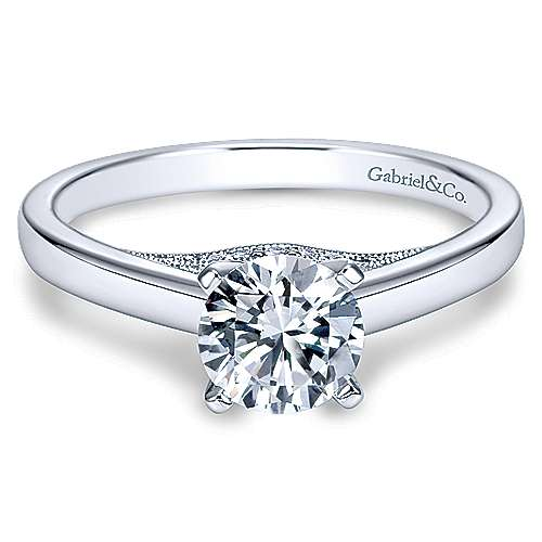 14k White Gold Diamond Solitaire