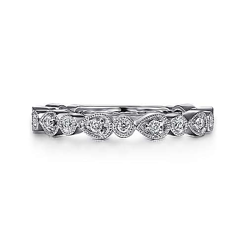 14k White Gold Stackable