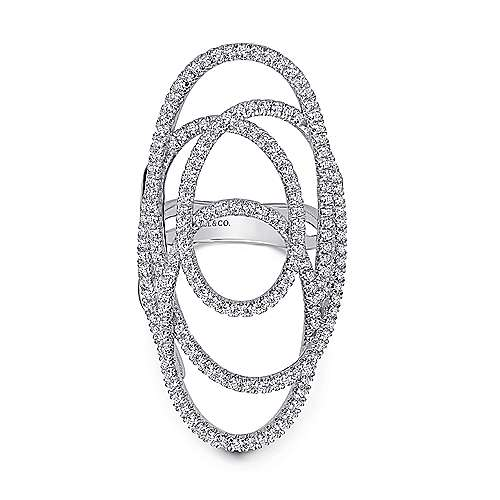 Gabriel - 14k White Gold Lusso Diamond Statement Ladies' Ring