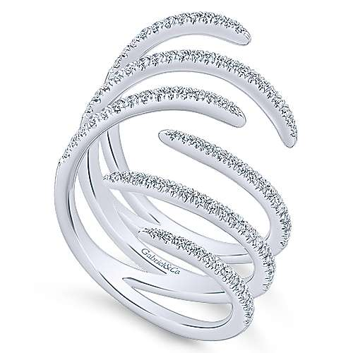 14k White Gold Diamond Statement Ladies