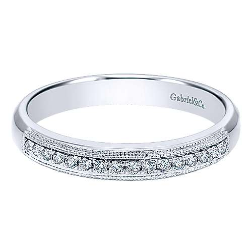 Gabriel - 14k White Gold Straight Anniversary Band