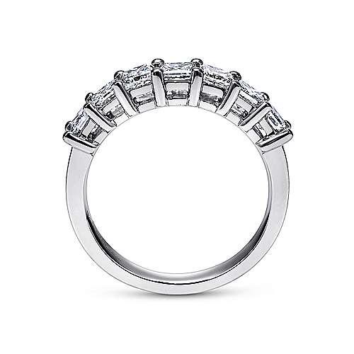 14k White Gold Diamond Straight Anniversary Band angle 2